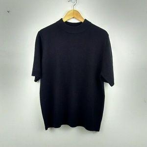 Sag Harbor Black Short-sleeve Sweater